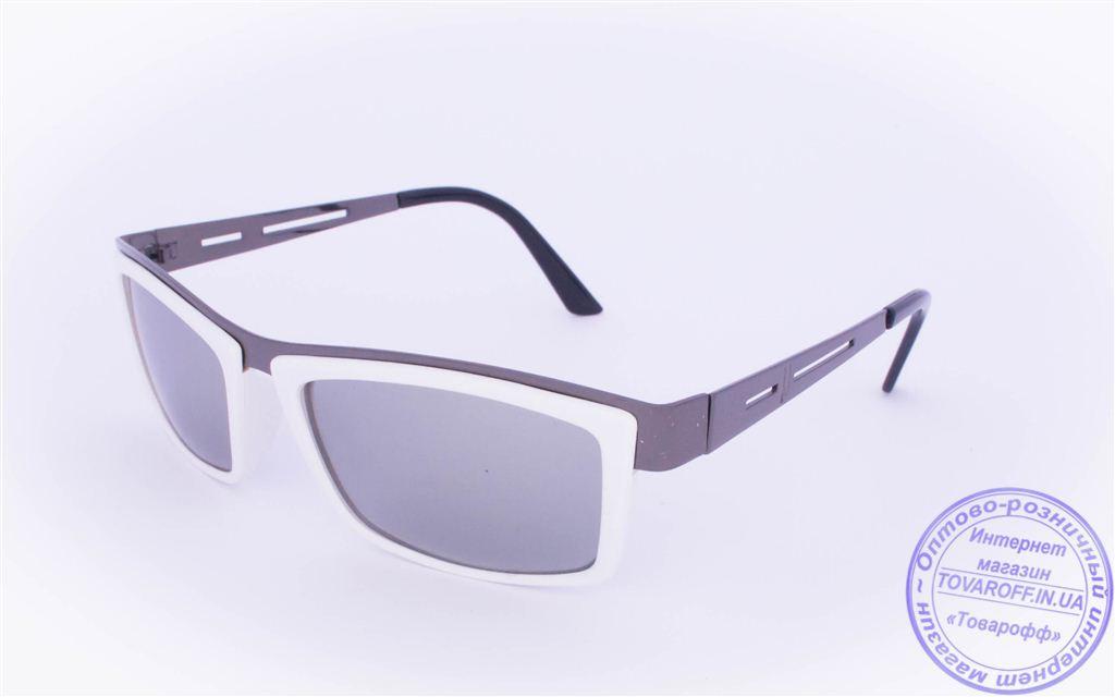 Оптом женские солнцезащитные очки - Белые - 004