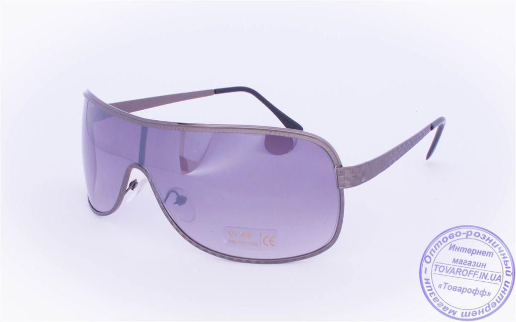 Оптом солнцезащитные очки-маска - Черные - 625