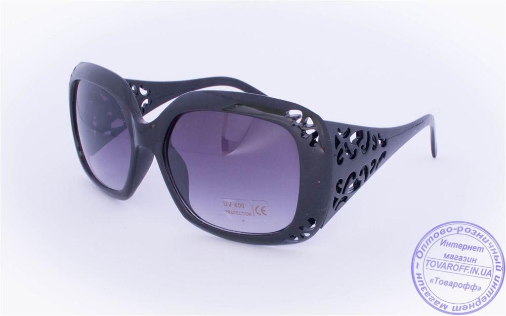 Оптом женские солнцезащитные очки - Черные - 922