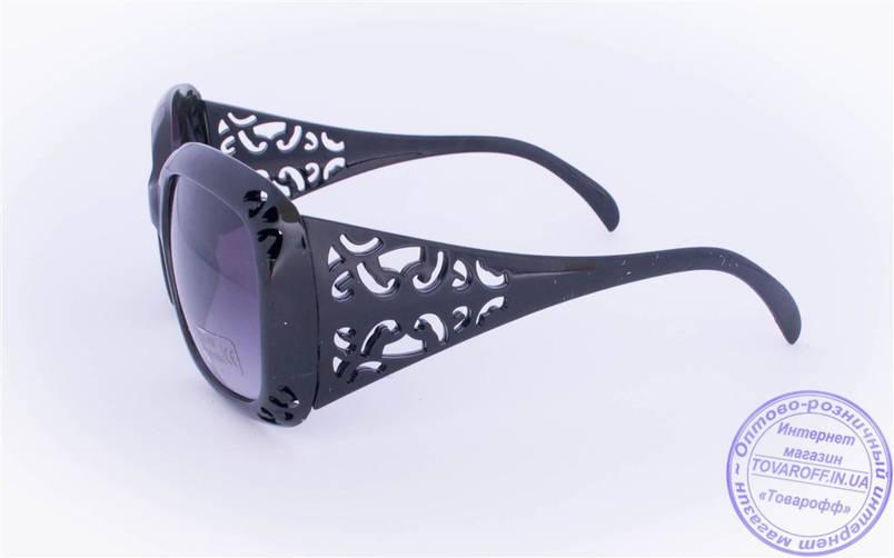Жіночі сонцезахисні окуляри Оптом - Чорні - 922, фото 2