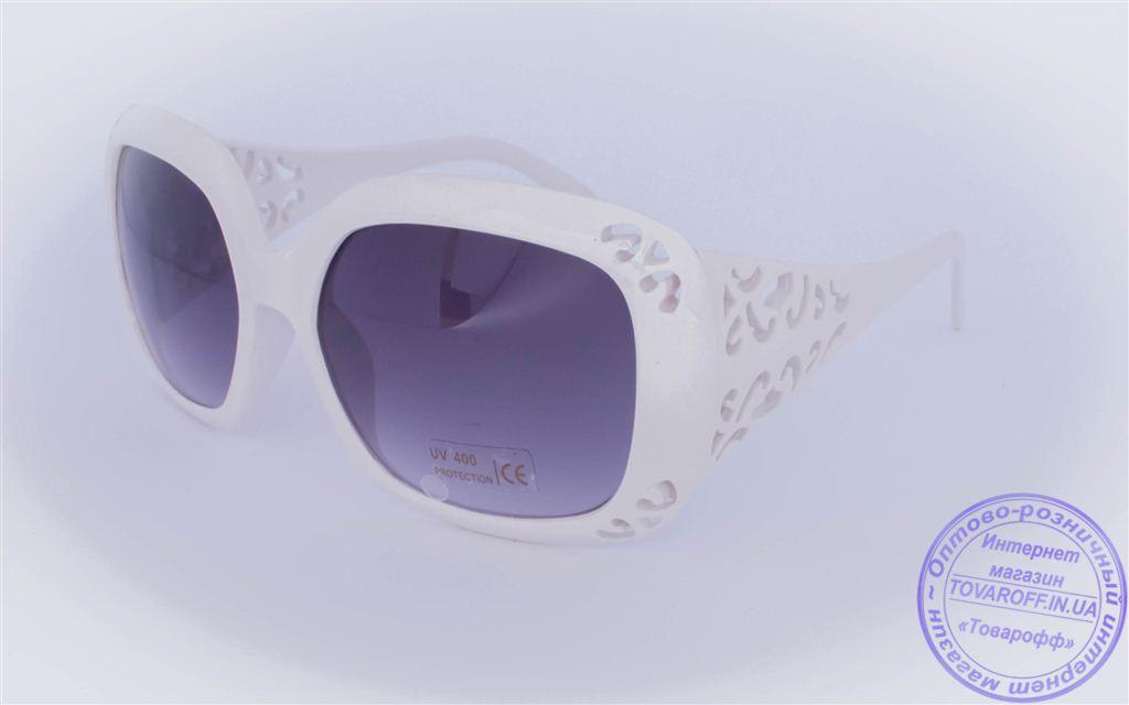 Оптом женские солнцезащитные очки - Белые - 922