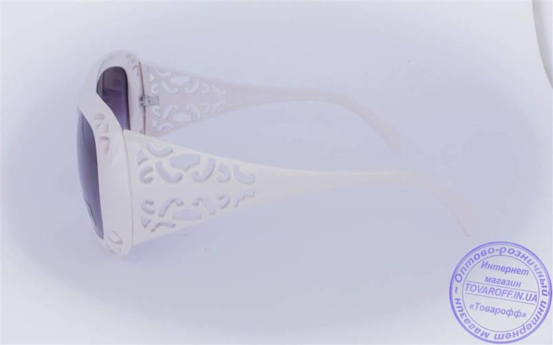 Оптом женские солнцезащитные очки - Белые - 922, фото 2