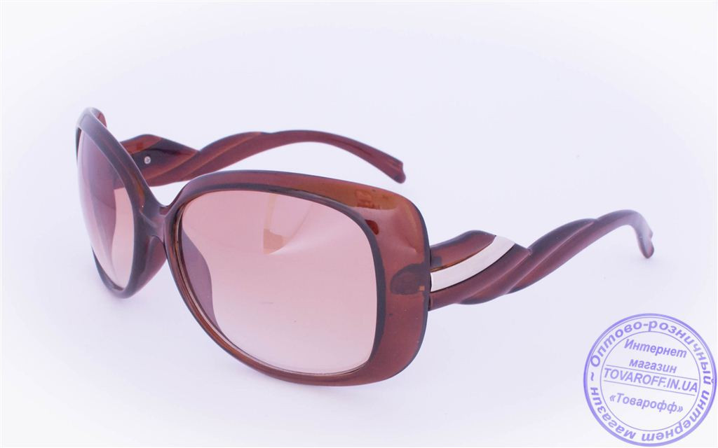 Оптом женские солнцезащитные очки - Коричневые - 935