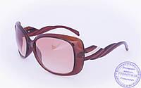 Оптом женские солнцезащитные очки - Коричневые - 935, фото 1