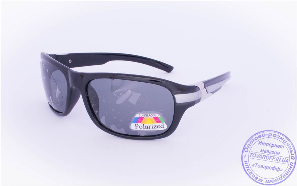 Оптом мужские поляризационные солнцезащитные очки - Черные - 952