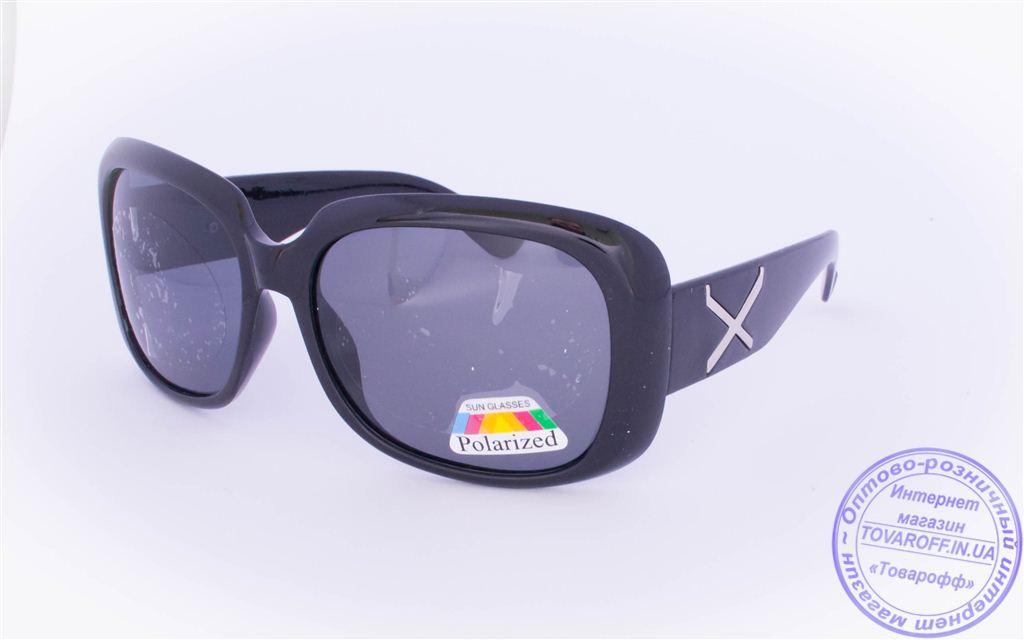 Оптом женские поляризационные солнцезащитные очки - Черные - 959