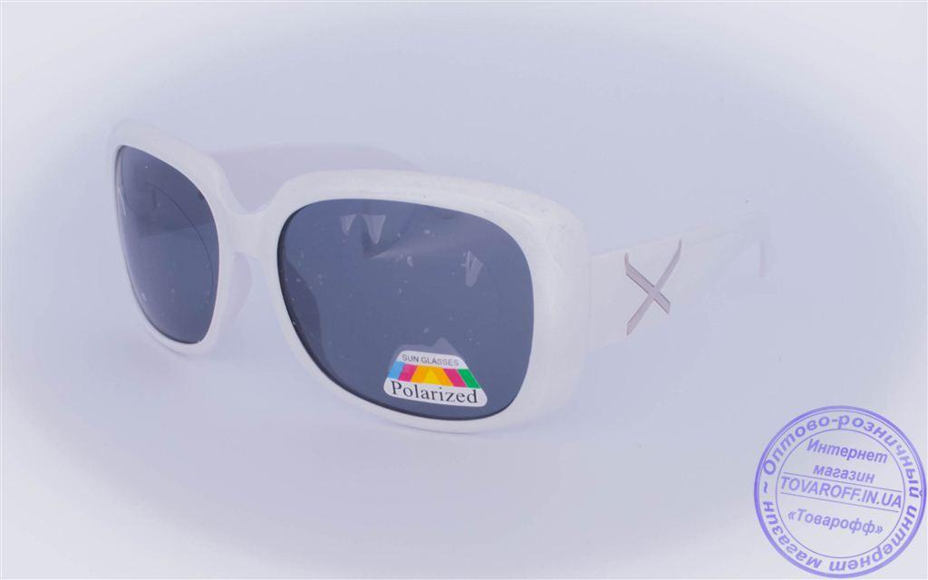 Оптом женские поляризационные солнцезащитные очки - Белые - 959