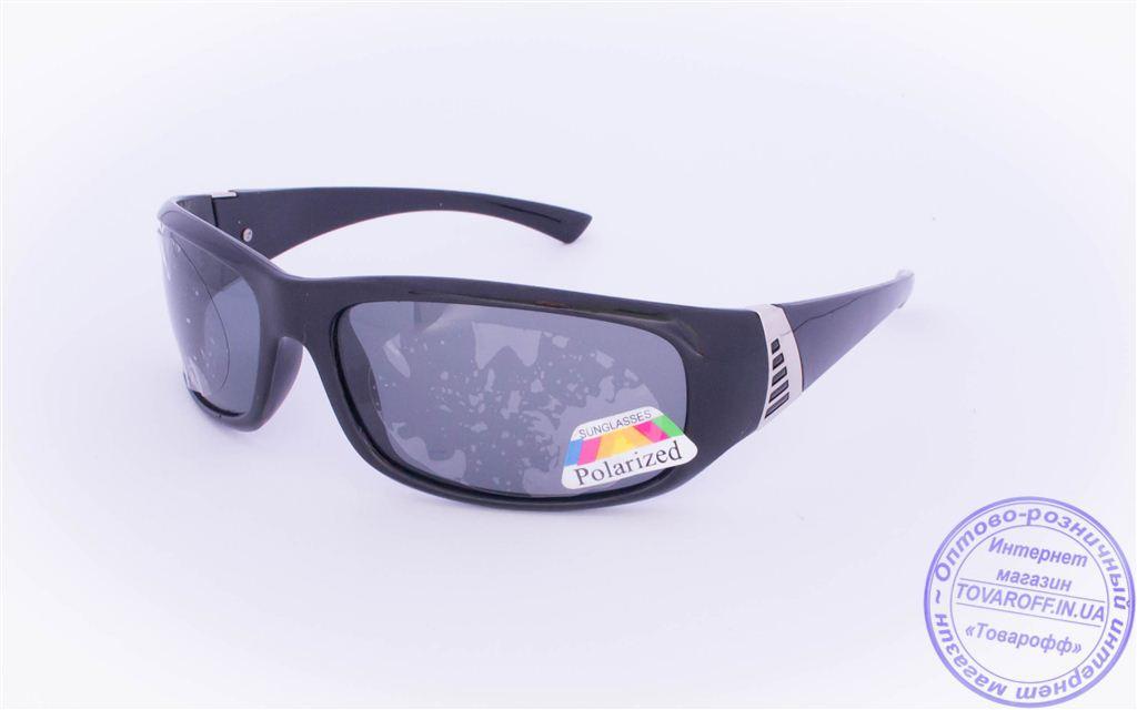 Оптом чоловічі поляризаційні сонцезахисні окуляри - Чорні - 961