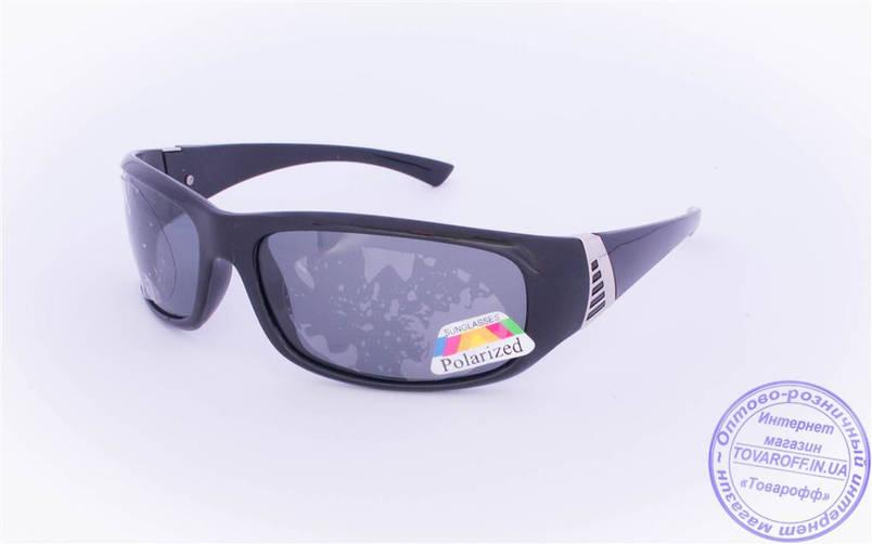 Оптом чоловічі поляризаційні сонцезахисні окуляри - Чорні - 961, фото 2
