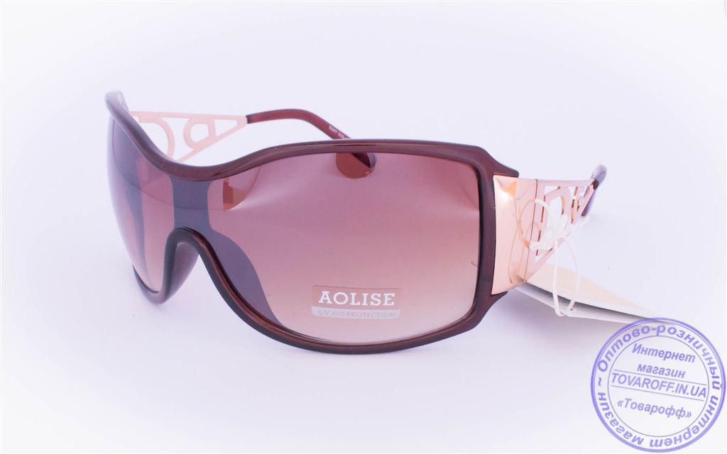 Оптом женские солнцезащитные очки - Коричневые - 5241