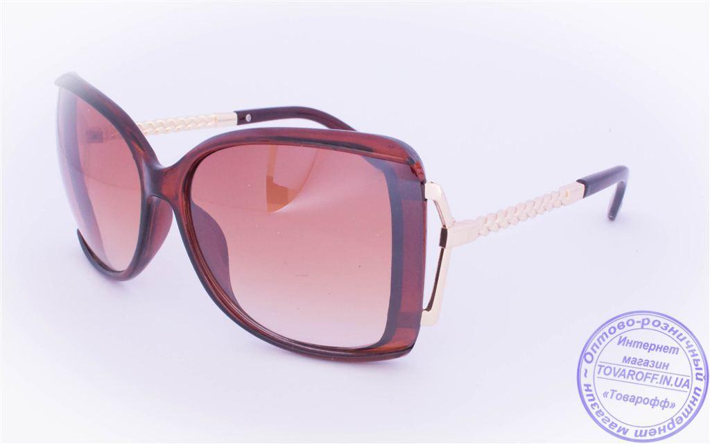 Оптом женские солнцезащитные очки - Коричневые - 114