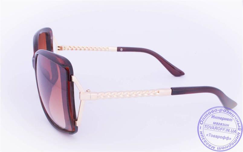 Оптом женские солнцезащитные очки - Коричневые - 114, фото 2