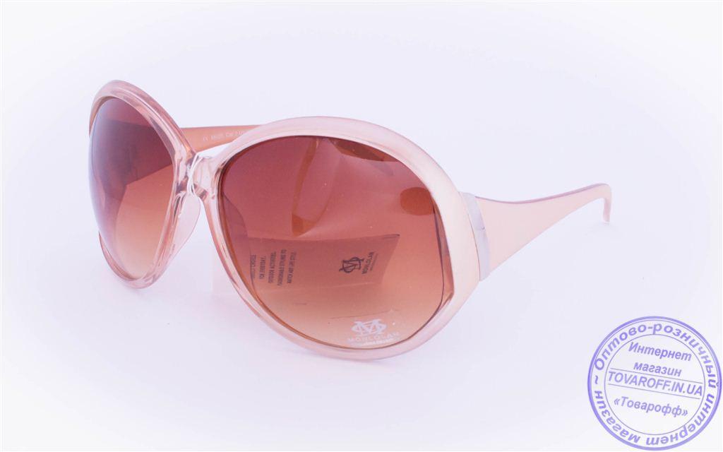 Оптом женские солнцезащитные очки - Бежевые - 5723