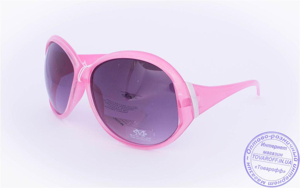 Оптом женские солнцезащитные очки - Розовые - 5723