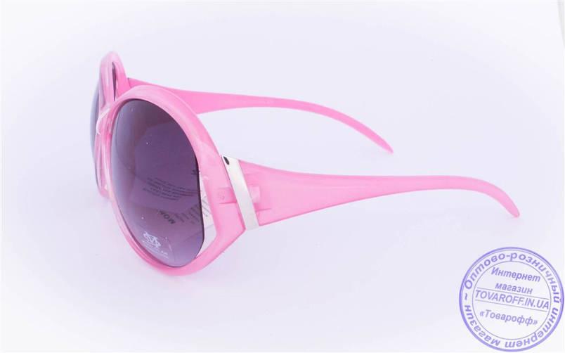 Жіночі сонцезахисні окуляри Оптом - Рожеві - 5723, фото 2