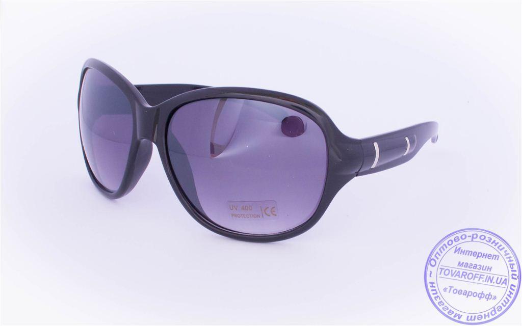 Оптом женские солнцезащитные очки - Черные - 5728
