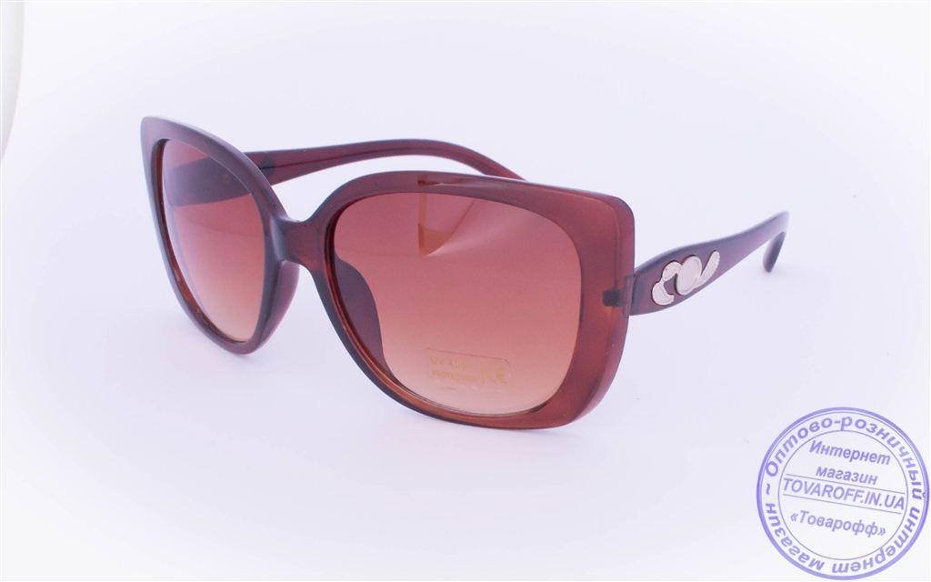 Жіночі сонцезахисні окуляри Оптом - Коричневі - 5914
