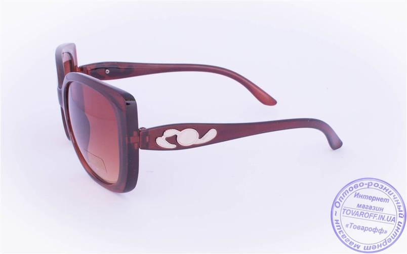 Жіночі сонцезахисні окуляри Оптом - Коричневі - 5914, фото 2