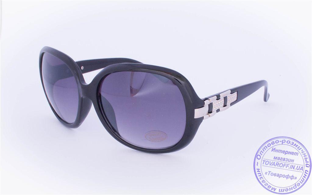 Оптом женские солнцезащитные очки - Черные, коричневые, белые - 7038