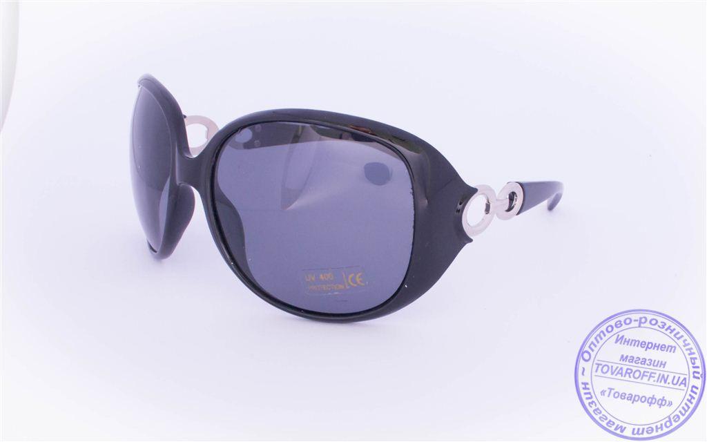 Оптом женские поляризационные солнцезащитные очки - Черные - 8155