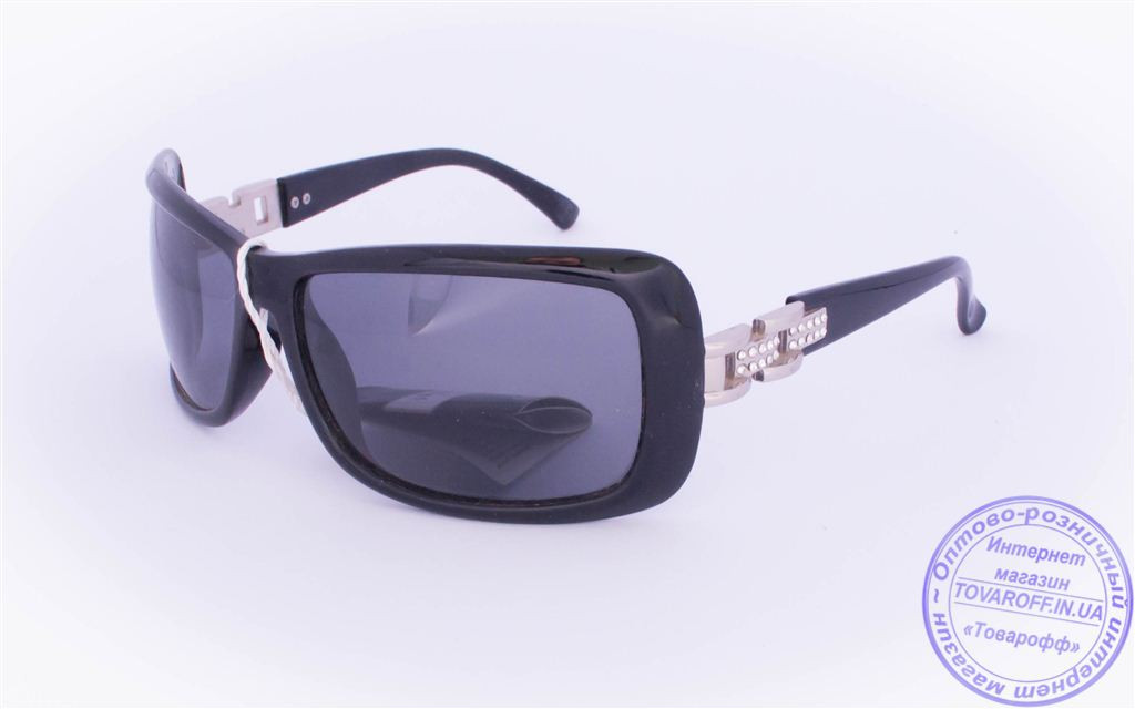 Оптом женские поляризационные солнцезащитные очки - Черные - 8202
