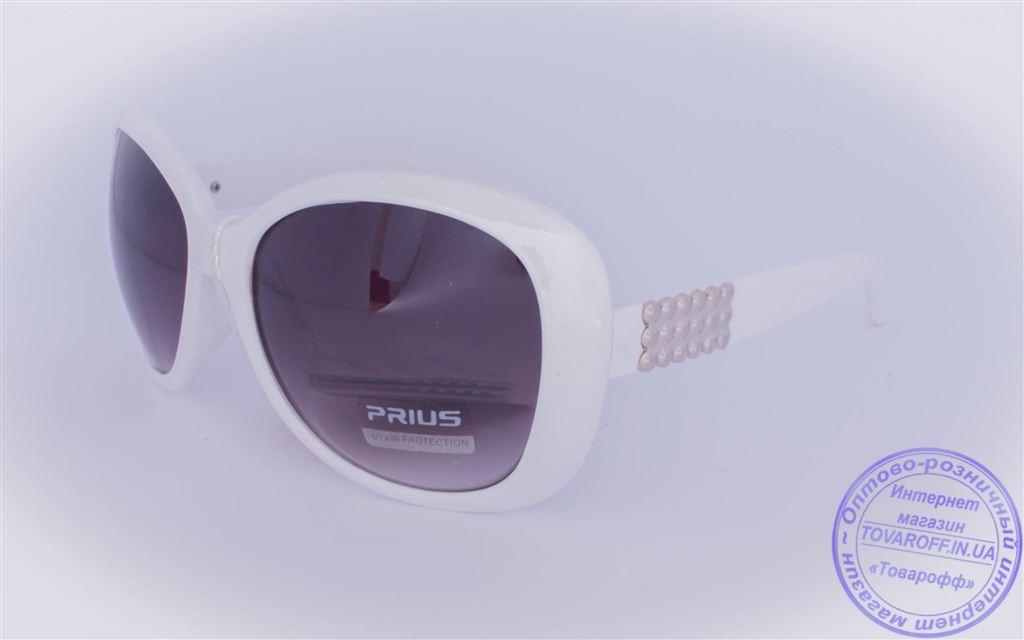 Оптом женские солнцезащитные очки - Белые - 8226