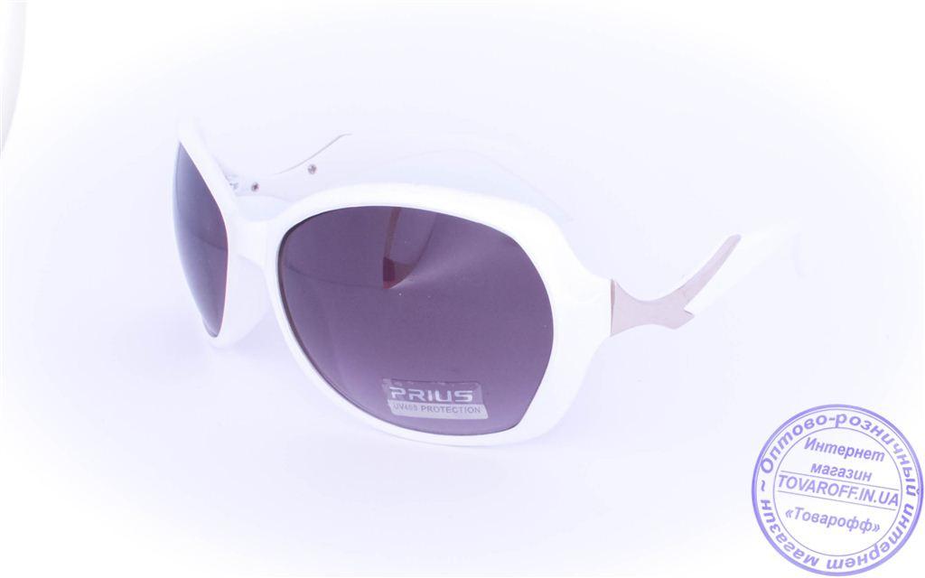 Оптом женские солнцезащитные очки - Белые - 8253