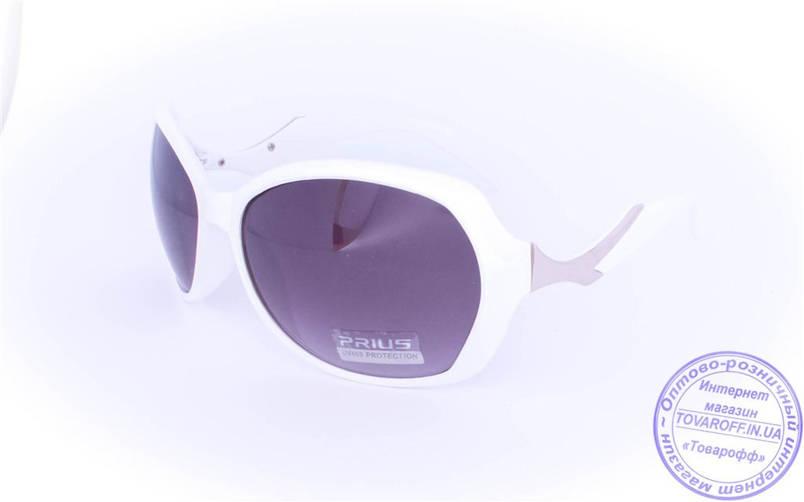 Оптом женские солнцезащитные очки - Белые - 8253, фото 2