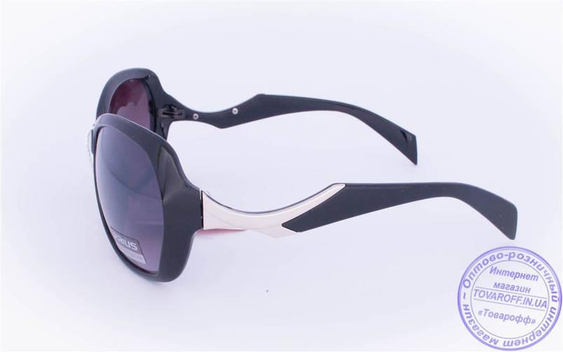 Оптом женские солнцезащитные очки - Черные - 8253, фото 2