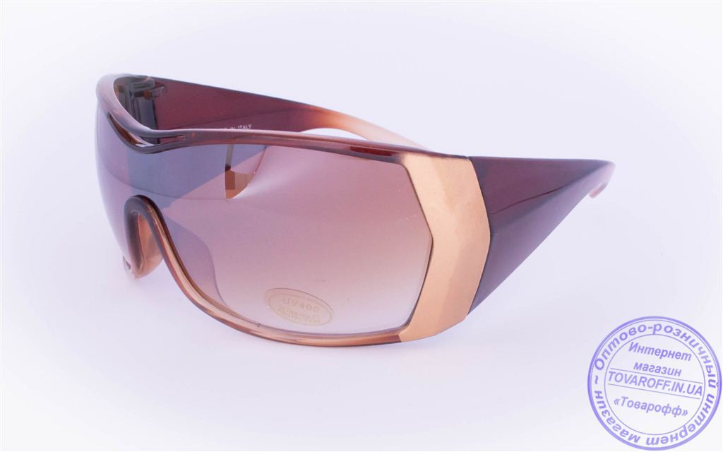 Оптом женские солнцезащитные очки - Коричневые - 8841