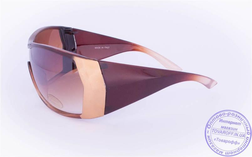 Оптом женские солнцезащитные очки - Коричневые - 8841, фото 2