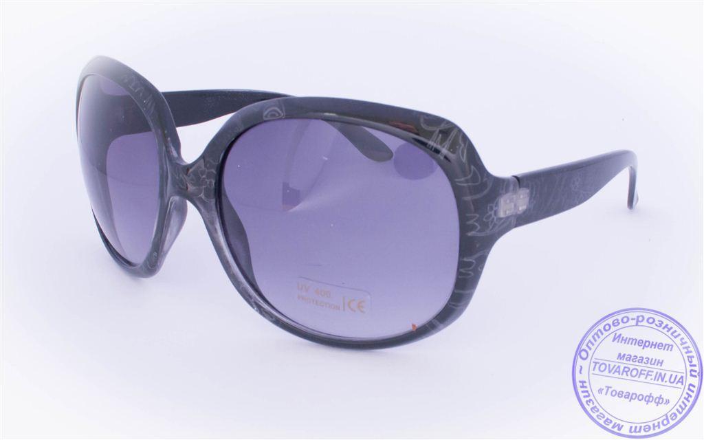 Оптом женские солнцезащитные очки - Черные - 8860