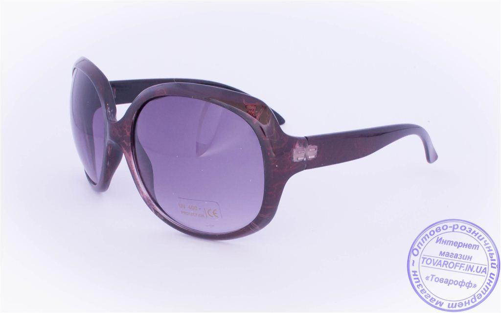 Жіночі сонцезахисні окуляри Оптом - Бордові - 8860
