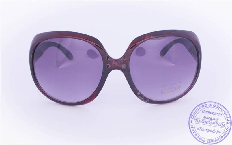 Жіночі сонцезахисні окуляри Оптом - Бордові - 8860, фото 2