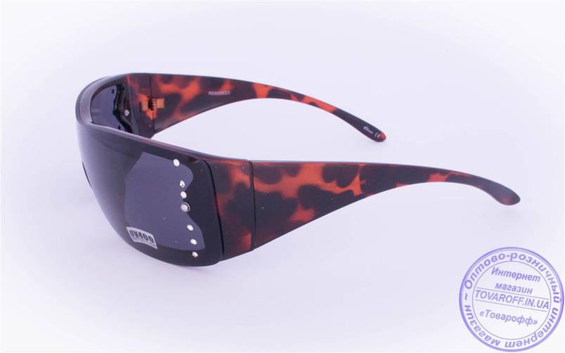 Жіночі сонцезахисні окуляри Оптом - Чорні - 8886, фото 2
