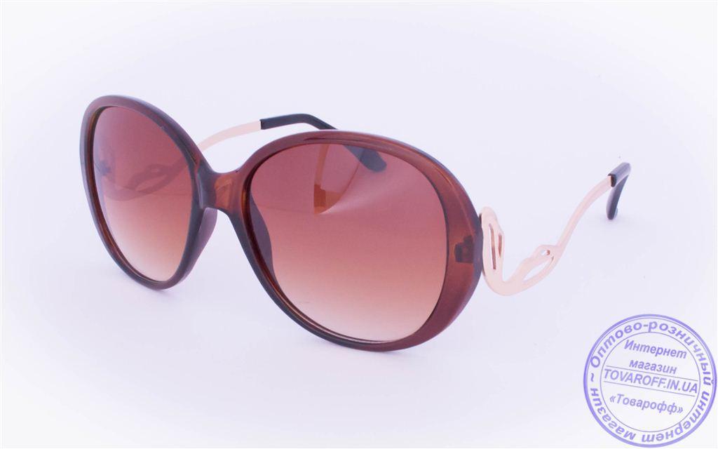 Оптом женские солнцезащитные очки - Коричневые - 1115