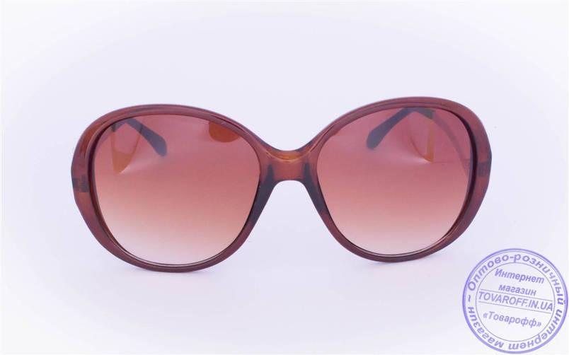 Жіночі сонцезахисні окуляри Оптом - Коричневі - 1115, фото 2