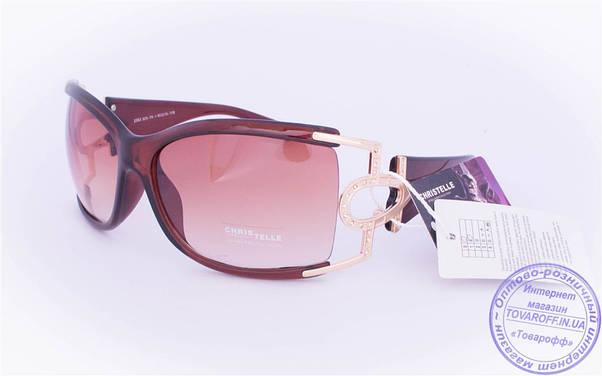 Оптом женские солнцезащитные очки - Коричневые и черные - 2353, фото 2