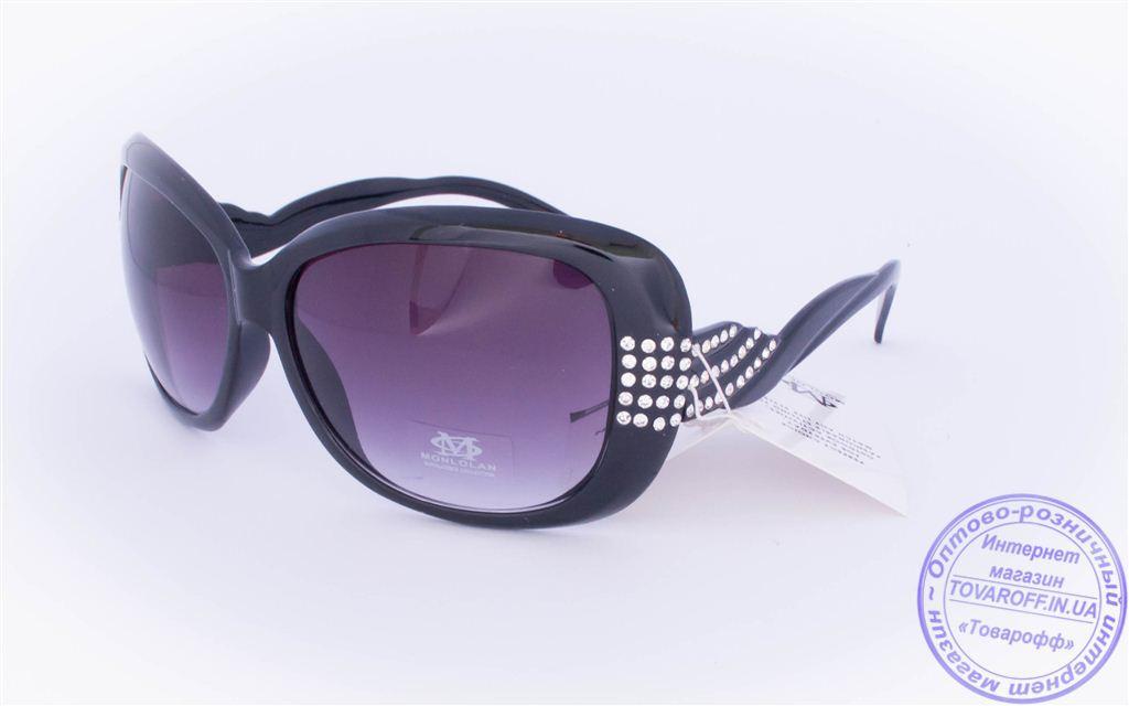 Оптом женские солнцезащитные очки - Черные - 3077