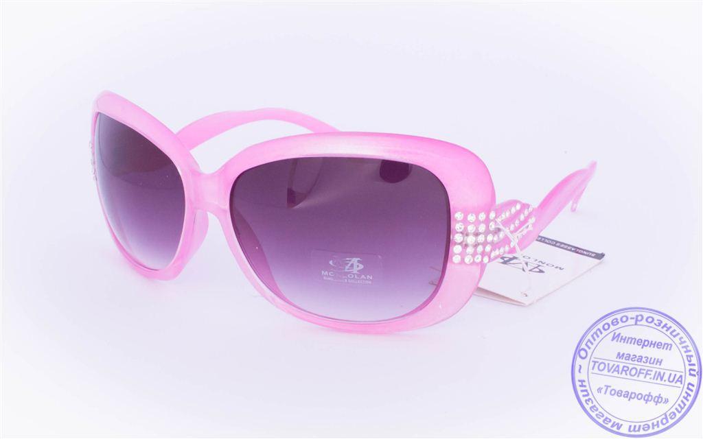Оптом женские солнцезащитные очки - Розовые - 3077