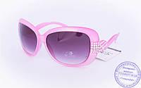 Оптом женские солнцезащитные очки - Розовые - 3077, фото 1
