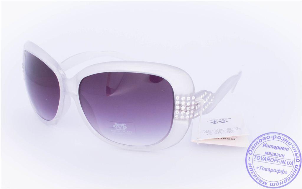 Оптом женские солнцезащитные очки - Белые - 3077