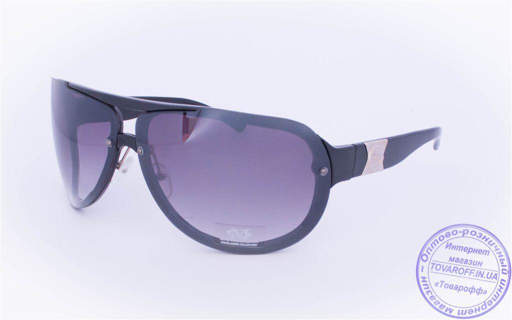 Оптом солнцезащитные очки - Черные - 3084