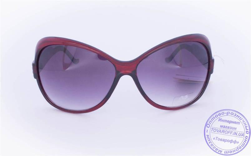 Оптом женские солнцезащитные очки - Бордовые - 3201, фото 2