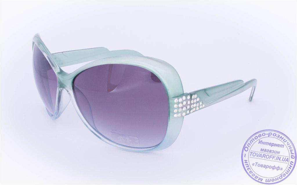 Оптом женские солнцезащитные очки - Зеленые - 3201