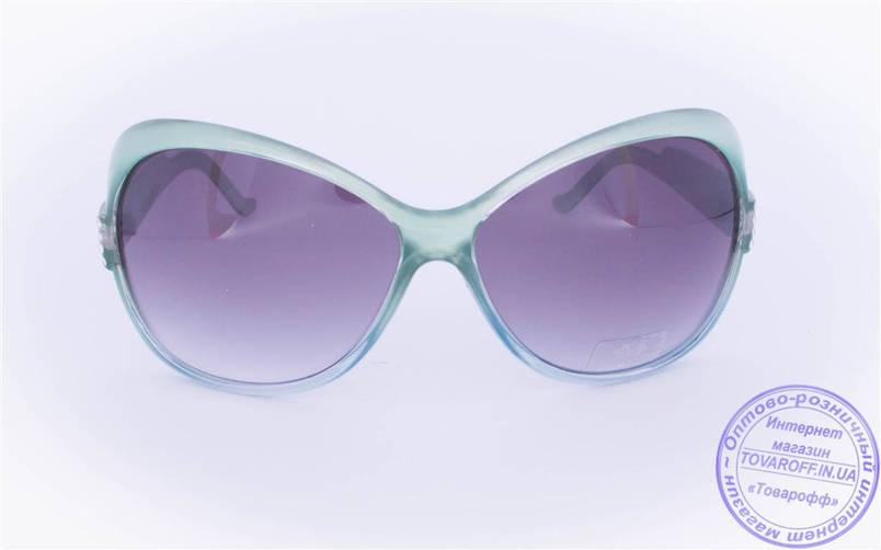 Оптом женские солнцезащитные очки - Зеленые - 3201, фото 2