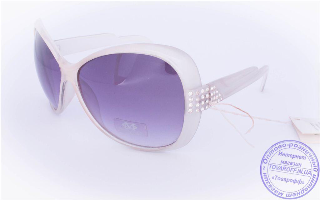 Оптом женские солнцезащитные очки - Белые - 3201