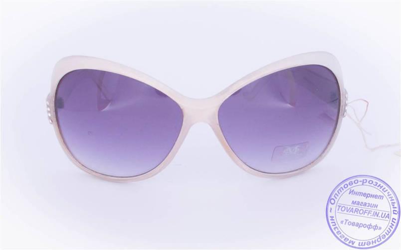 Оптом женские солнцезащитные очки - Белые - 3201, фото 2