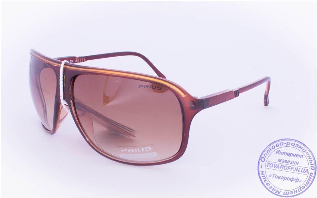 Оптом мужские солнцезащитные очки - Коричневые - 3419