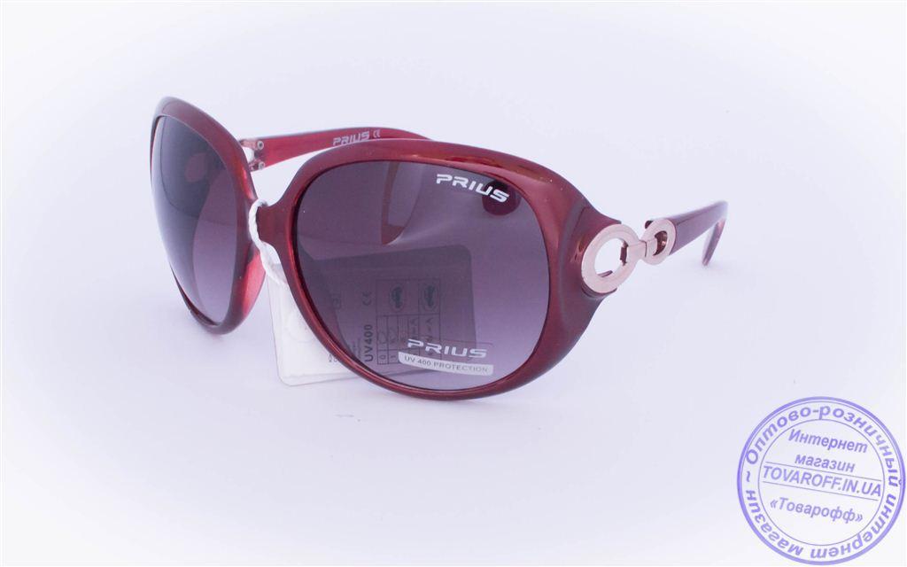 Оптом женские солнцезащитные очки - Бордовые - 3499